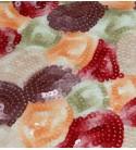 Tessuto Ricamo Pailettes Multicolor 28550