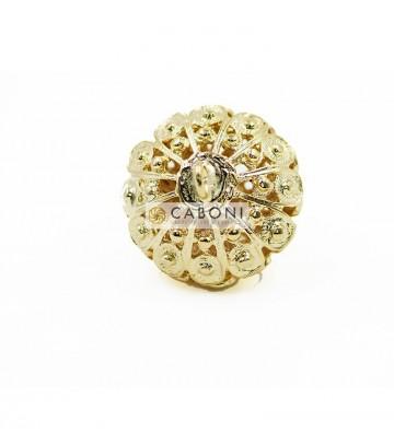 Bottone 2976 Oro Pietra Rossa