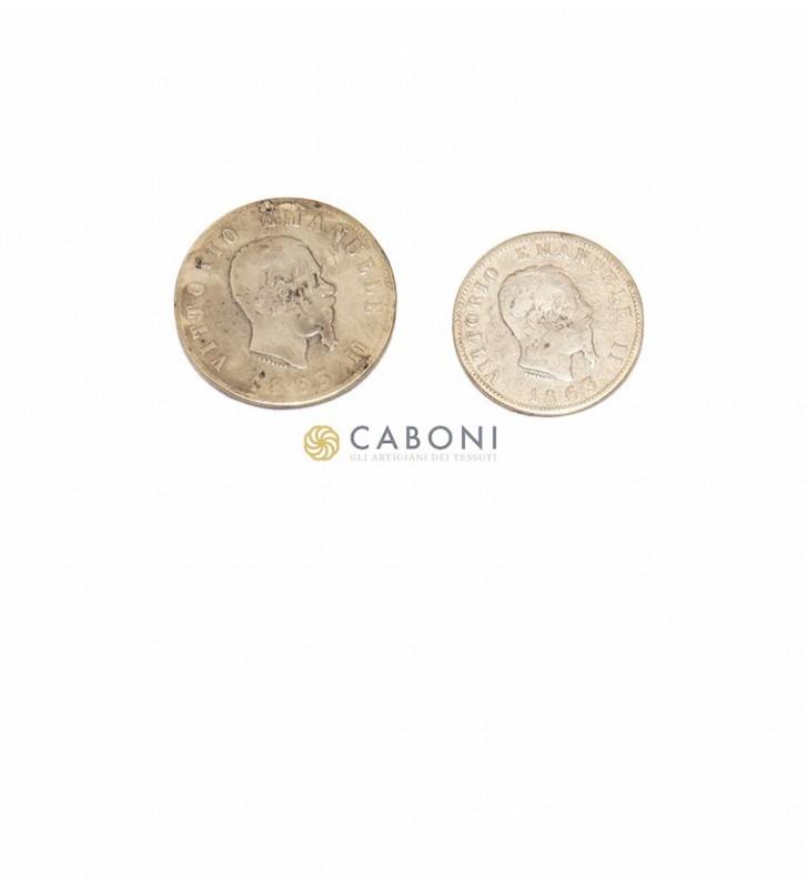 Bottone moneta Vitt. Emanuele II- Oro Ant.