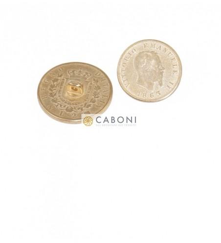 Bottone moneta Vitt. Emanuele II- Oro