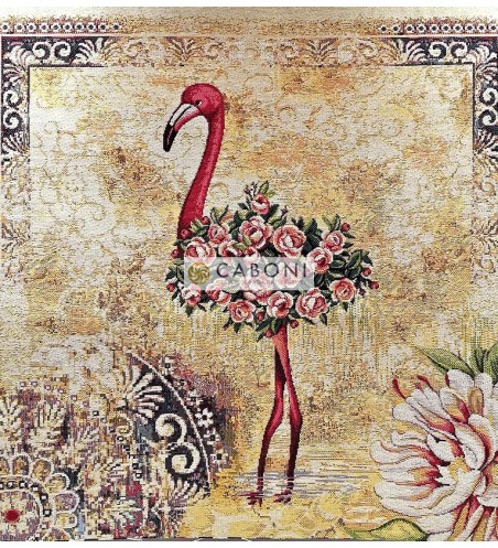 Tessuto Gobelin - Riquadro45x45 Flamingo