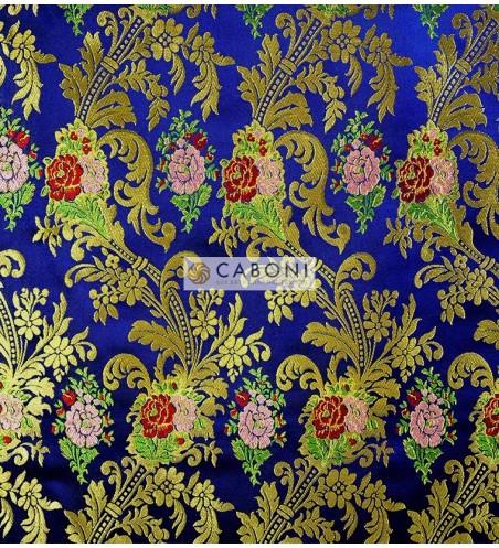 Lampasso 01323 Filato Oro Ramage Giardino Blu