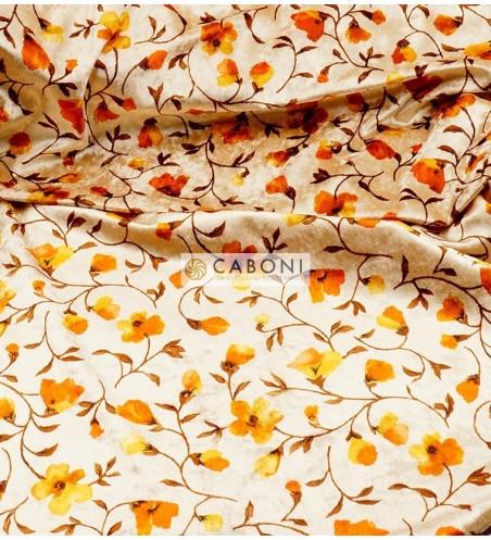Vellutino floreale col. Avorio foto1
