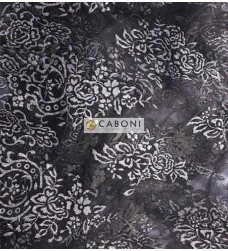 Tulle decorato Flock Glitter 1214-66