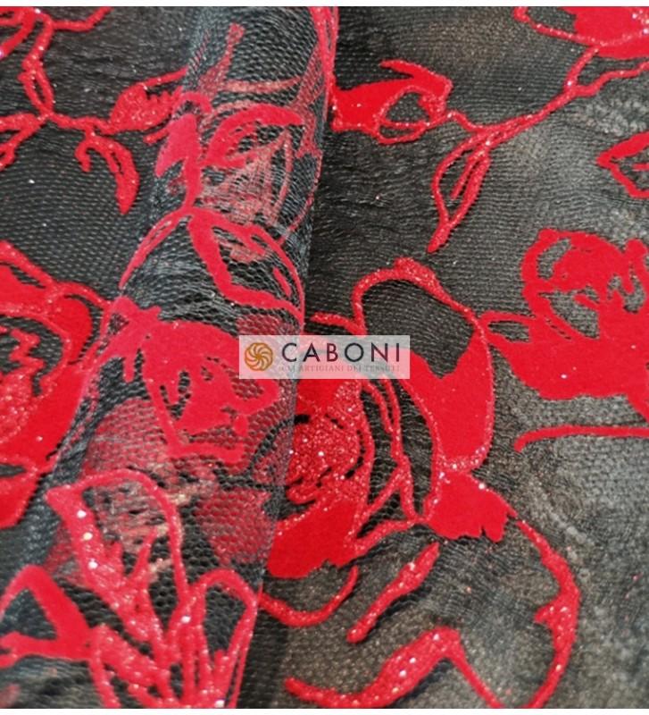 Tulle decorato red rose