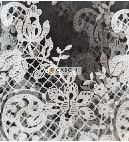 Tulle decorato degrade col.grigio