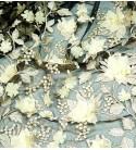Pizzo fiori in rilievo 80683 Avorio/Nero 2