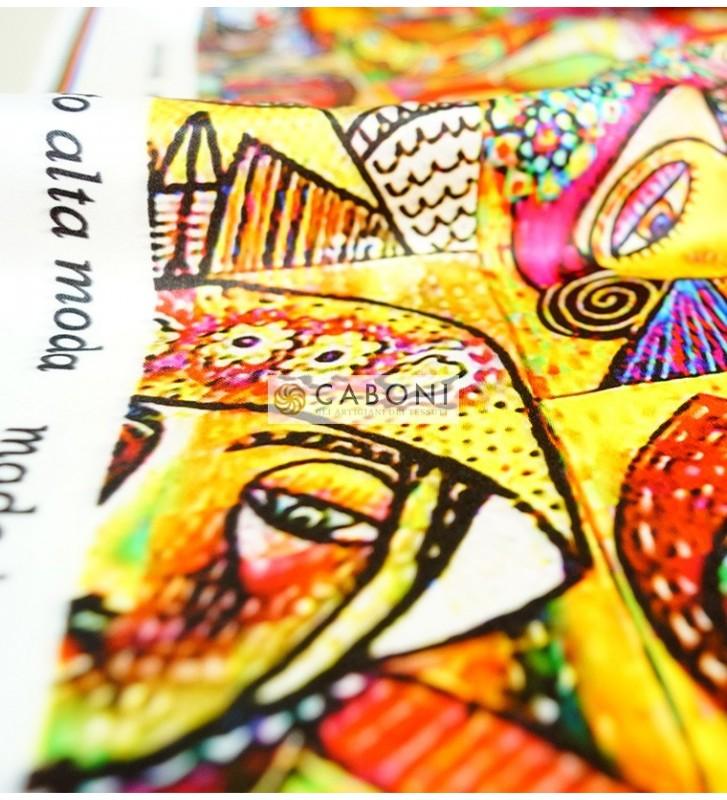 Tessuto Gardenia fantasia Volti 3