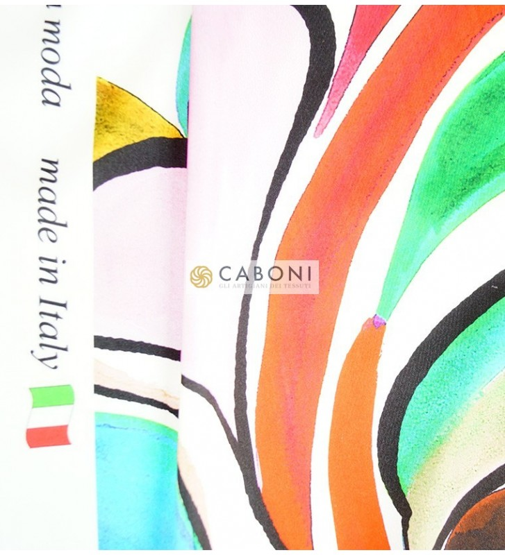 Tessuto Gardenia fantasia Onde Colorate 1