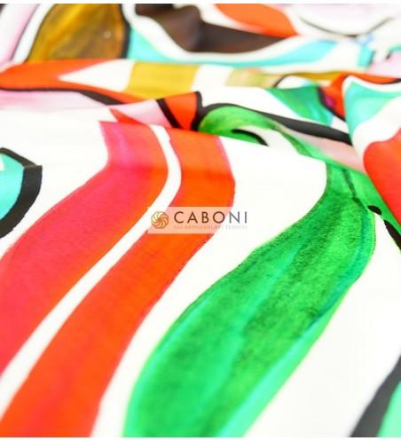 Tessuto Gardenia fantasia Onde Colorate 3