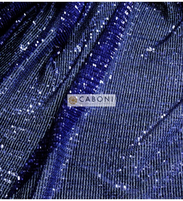Tessuto Paillettes 28524 col.Blu