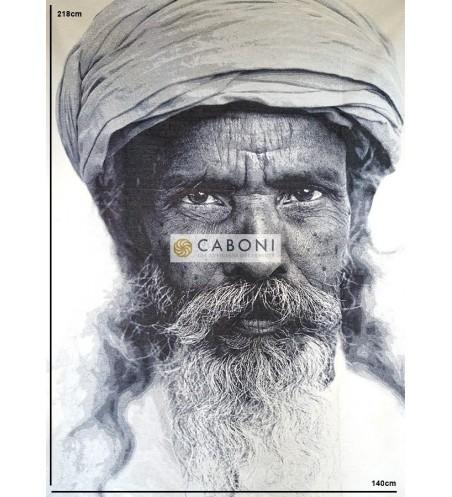 Tessuto Gobelin Riquadro Volti - Kunhar
