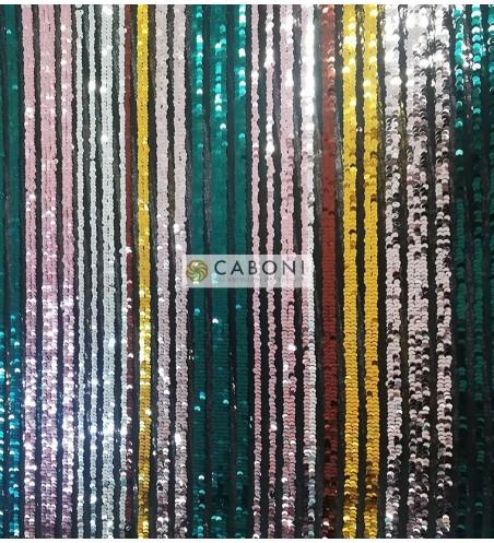 Tessuto Paillettes Multicolor