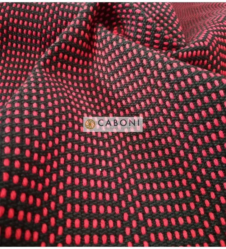 Bisaccia Cotone pesante - Rosso/nero