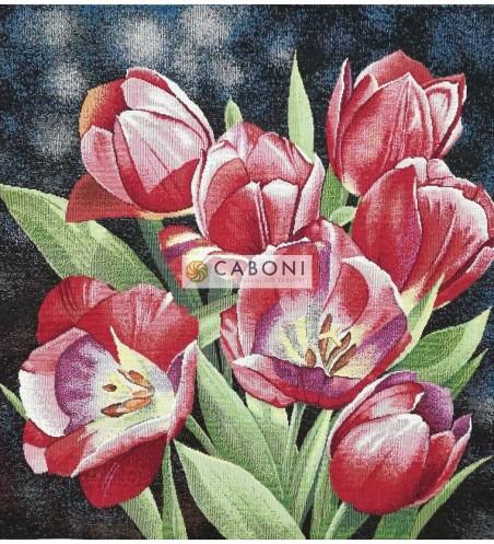Tessuto Gobelin - Riquadro 45x45 Flowers3