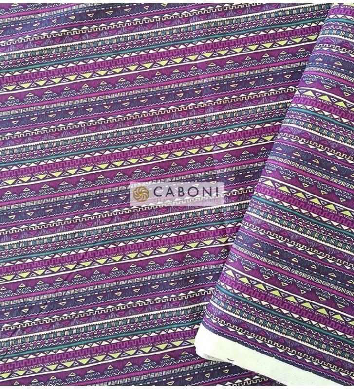 Tess.100% Cotone Maya - Violet