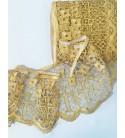 Bordo in Macramè Ecclesiastico Lamè Satin Gold