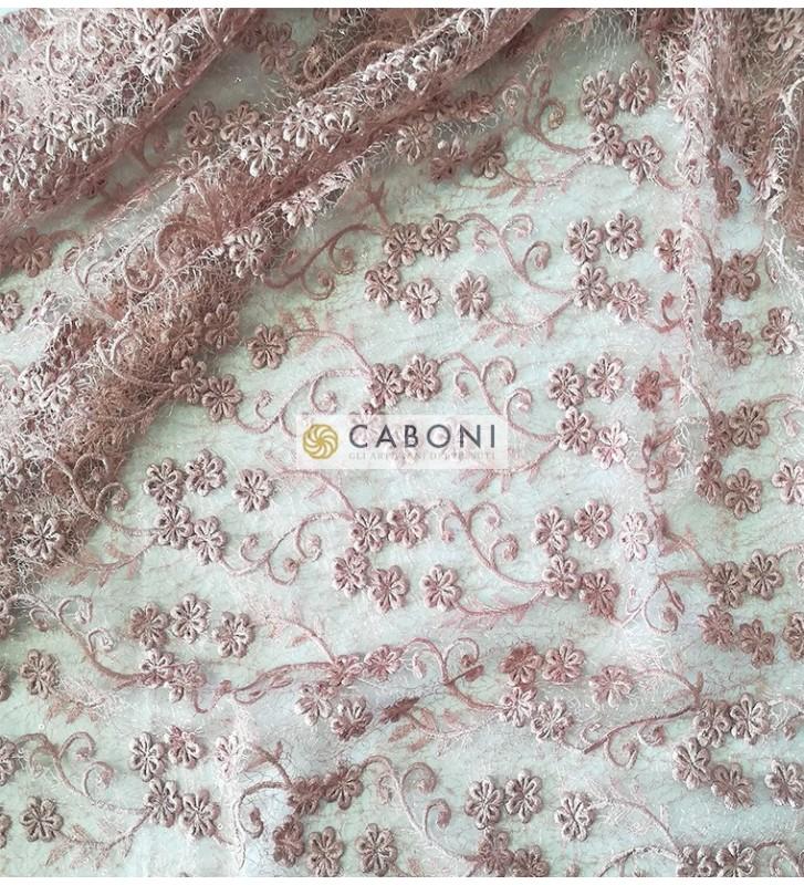 Pizzo con dettagli paillettes Eleonora - Variante Rosa