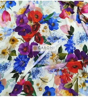 Tessuto Misto Seta Flores 0432