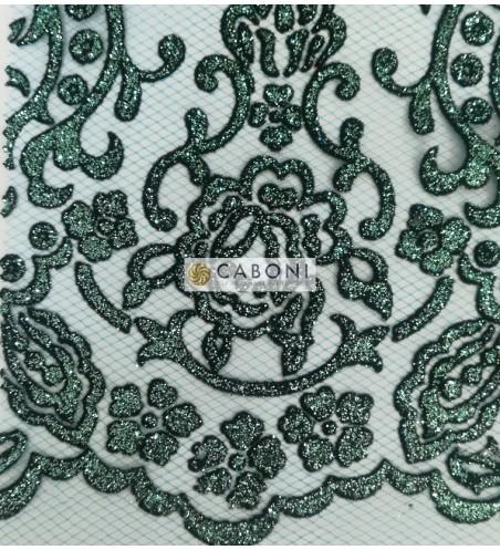 Tulle decorato 1214-66 Celeste