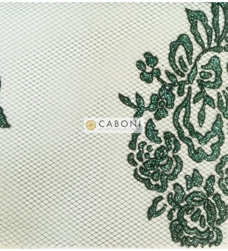 Tulle decorato 1214-66 Verde