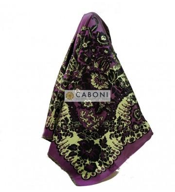 Scialle 100% Seta 20143/B col. viola scuro