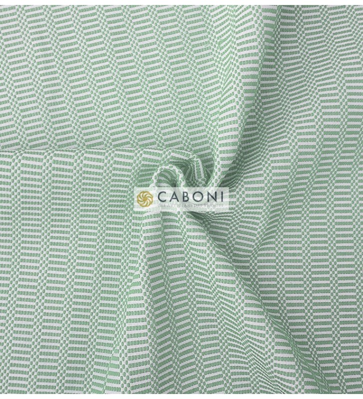 Bisaccia Cotone pesante - Verde acqua dettaglio