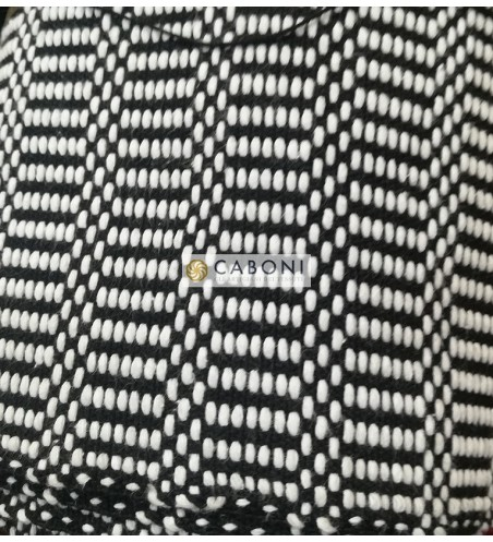 Bisaccia Cotone pesante - Black/White