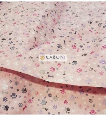 Tessuto 100% Cotone Bimbo - Osso Rosa