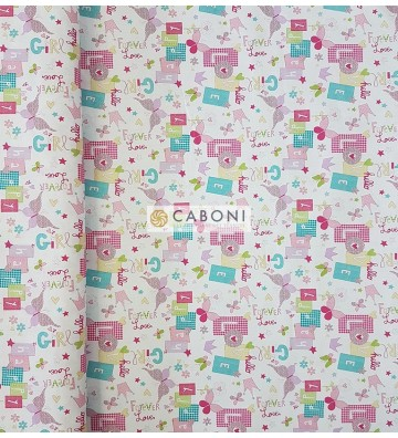Tessuto 100% Cotone Bimbo - Forever Pink