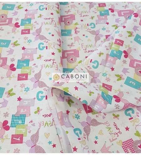 Tessuto 100% Cotone Bimbo - Forever Pink 2