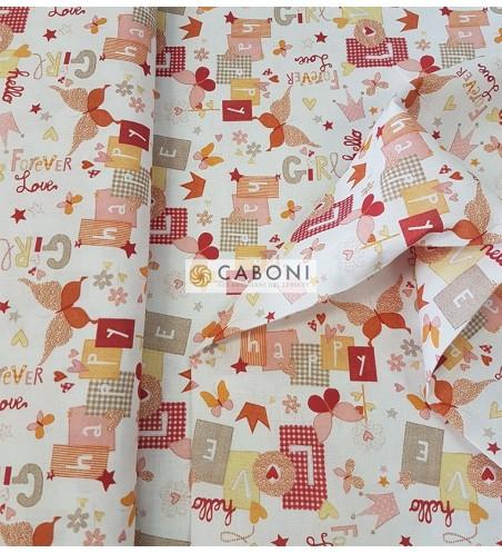 Tessuto 100% Cotone Bimbo - Forever Red 2