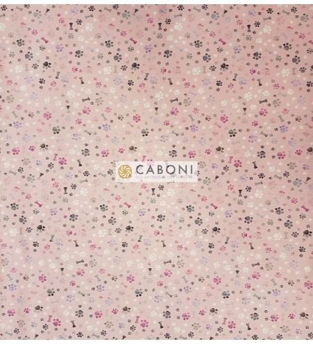 Tessuto 100% Cotone Bimbo - Osso Rosa 3