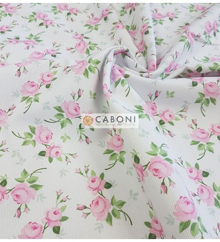 Piquet 100% Cotone - Flowers 1