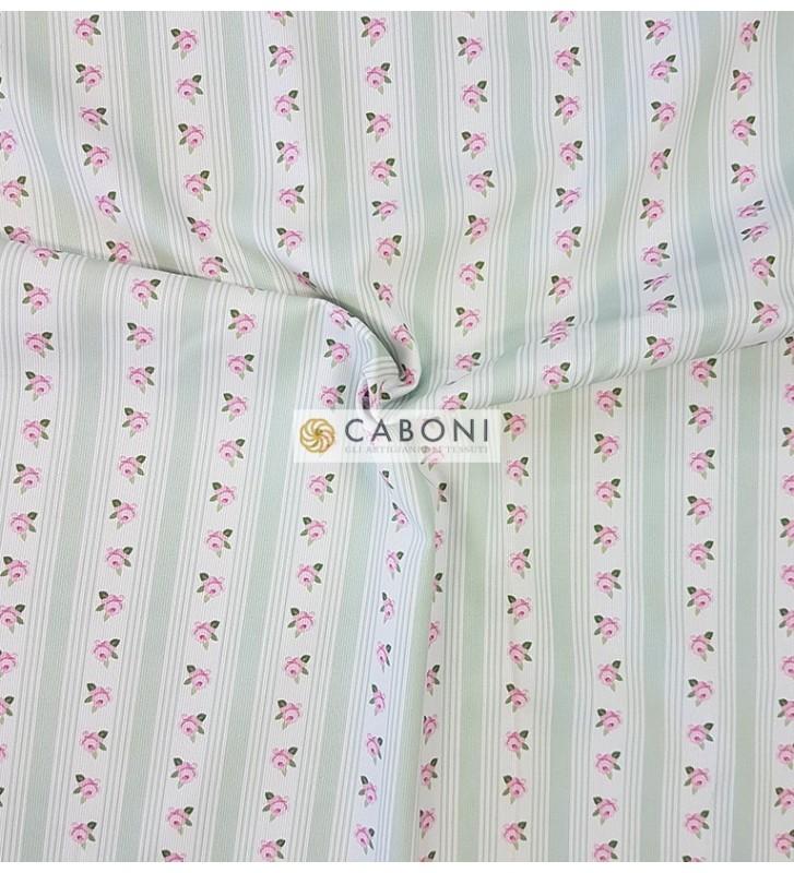Piquet 100% Cotone Bimbo - Flowers Righe