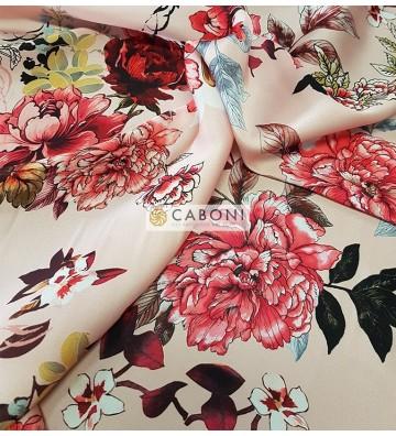Tessuto Satin Stampa Digitale Floreale