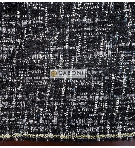 Tessuto Trama Chanel 90081 Nero