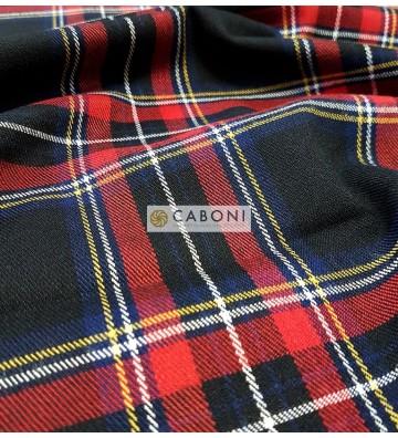 Tessuto Tecnico Stretch Twist 800 Black&Red foto2