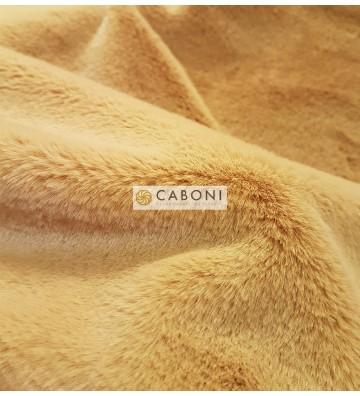Tessuto pelliccia leggera col.Giallo Senape