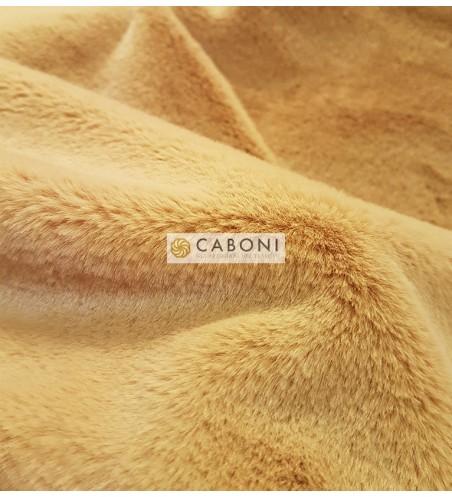 Tessuto pelliccia leggera col.Giallo Senape dettaglio