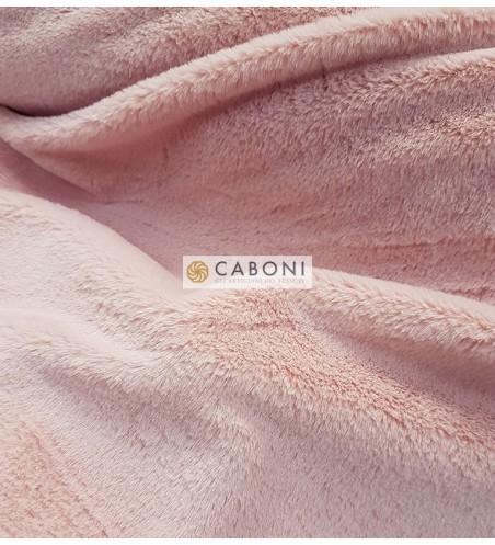 Tessuto pelliccia leggera col.Rosa Tenue