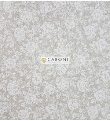Tessuto cotone resinato H140 - Rose Shabby