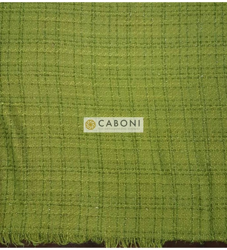Tessuto Trama Chanel - Verde Oliva