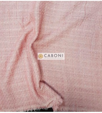 Tessuto Trama Chanel - Rosa Confetto