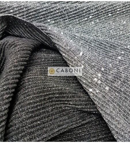 Tessuto Microplissettato Paillettes - Silver