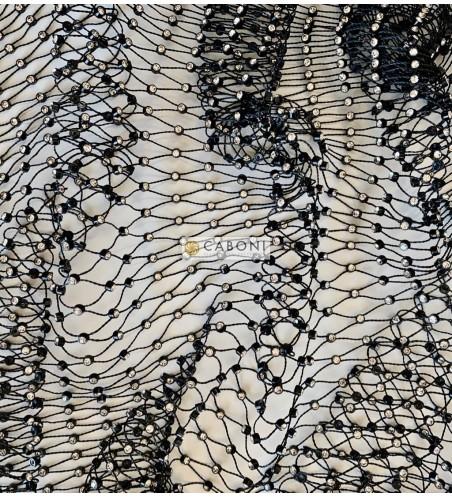 Gallon strass rete Nero
