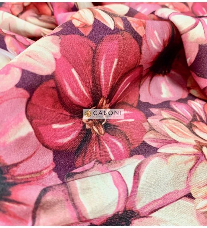 Raso viscosa Dalia rosa