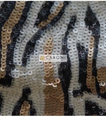 Tessuto Pailettes Maculata 128460 Oro
