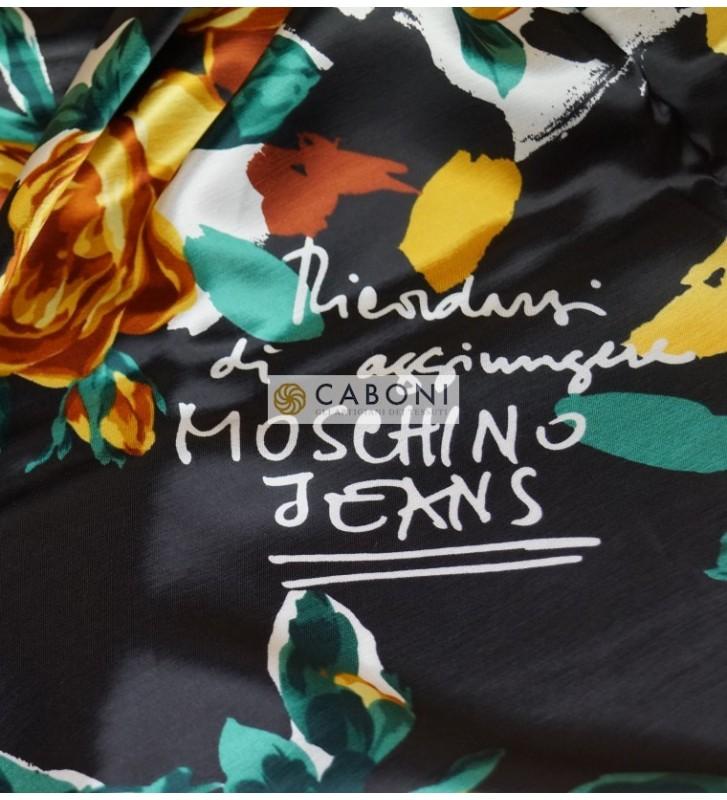 Satin in pura Seta Stampata Moschino Jeans