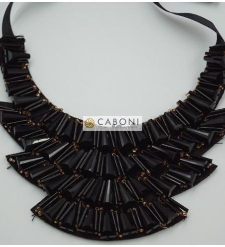 Colletto Gioiello moda 61748 Nero